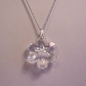 Gorham Crystal Snowflake Sterling Silver Necklace